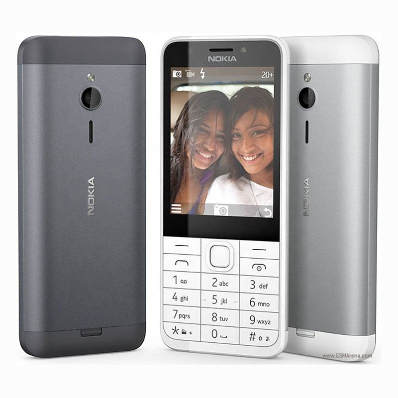 Nokia 230 Unlocked Cellphone Dual SIM Cards GSM 2.8 Inch 2MP Camera Mobile Phone
