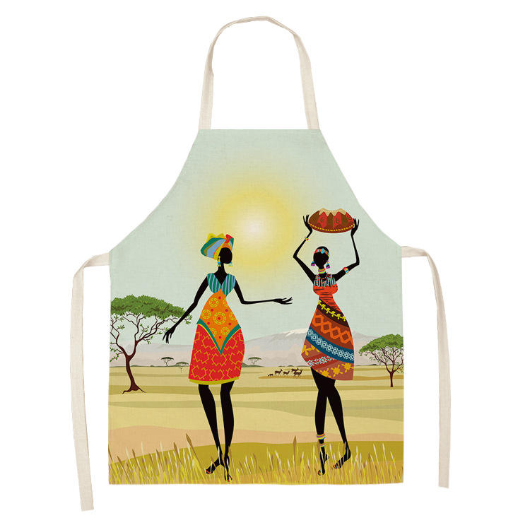 G&D African Womans Print Ethnic Multifunctional Kitchen Apron