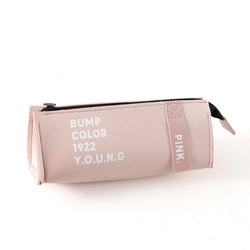 New fashion design hot sales PU leather simple design waterproof pencil pouch for school&office