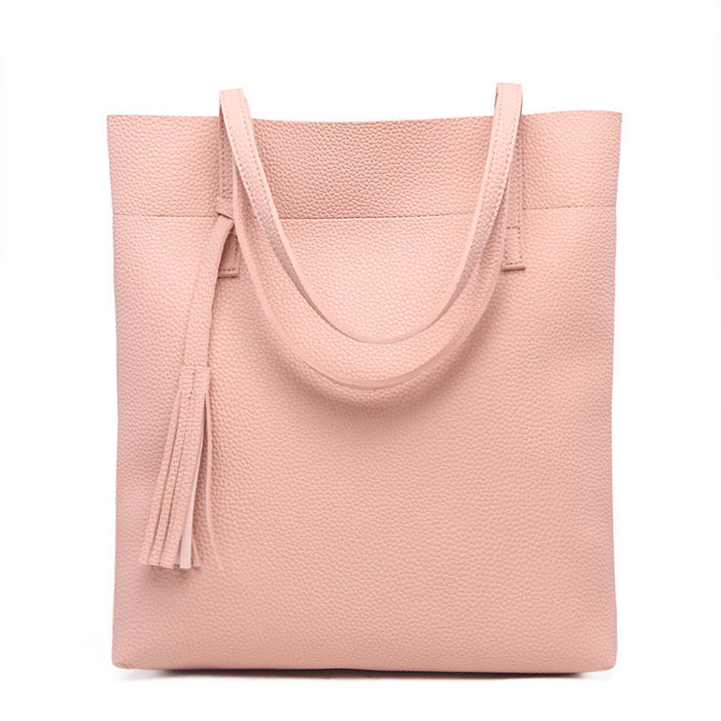 Factory custom women fashion bucket bag promotional large capacity PU leather ladies hand bags 2020 lady luxury hand leather s