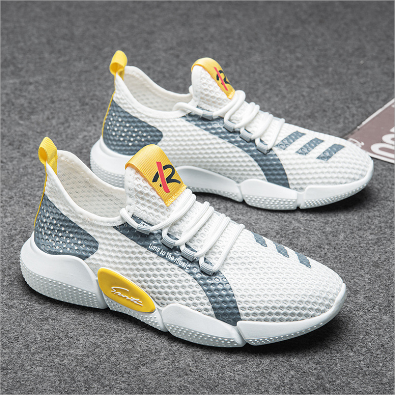 wholesale shenzhen breathable mesh casual fashion sports running shoes men shoes