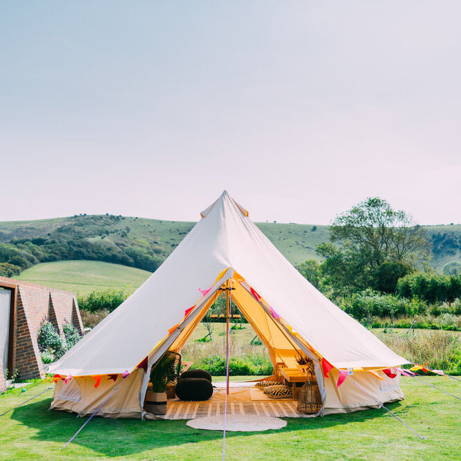 Factory Fire retardant outdoor wedding party events indian teepee bell tent 5m for sale