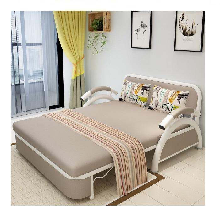 Modern Cum Sofas Bed Small Living Room Furniture Fabric foldable beds sofa hotels functional metal single seat folding sofa bed