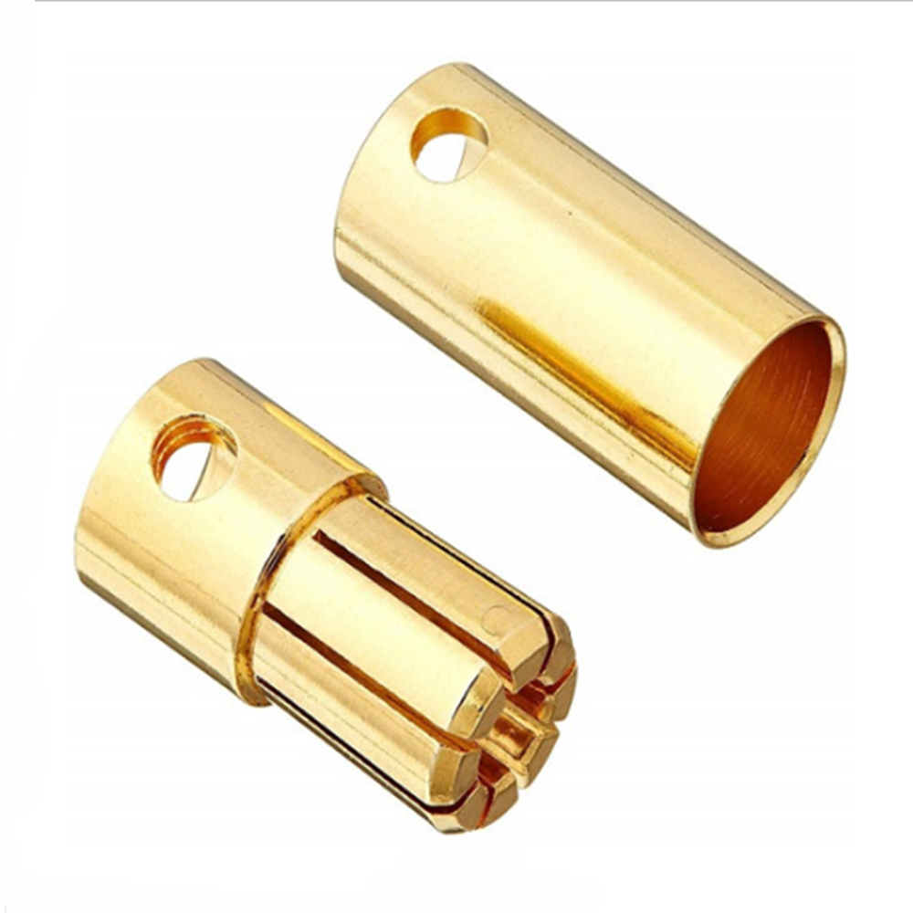 RC Gold Plated 6mm Banana DC Battery Plug big current 120A male and female ESC Battery DIY RC Drone Hexacopter Accessories