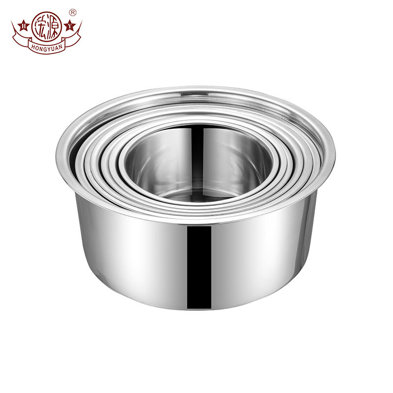Popular cooking appliance parts stainless steel inner kitchen cooking stock pots