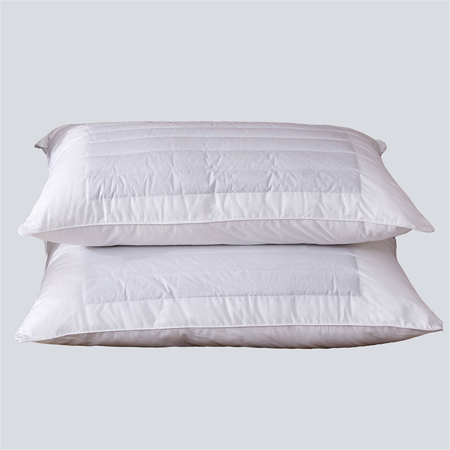 Custom High quality Luxury white hotel 100% natural cotton feather bed pillow with soft and comfortable sleeping