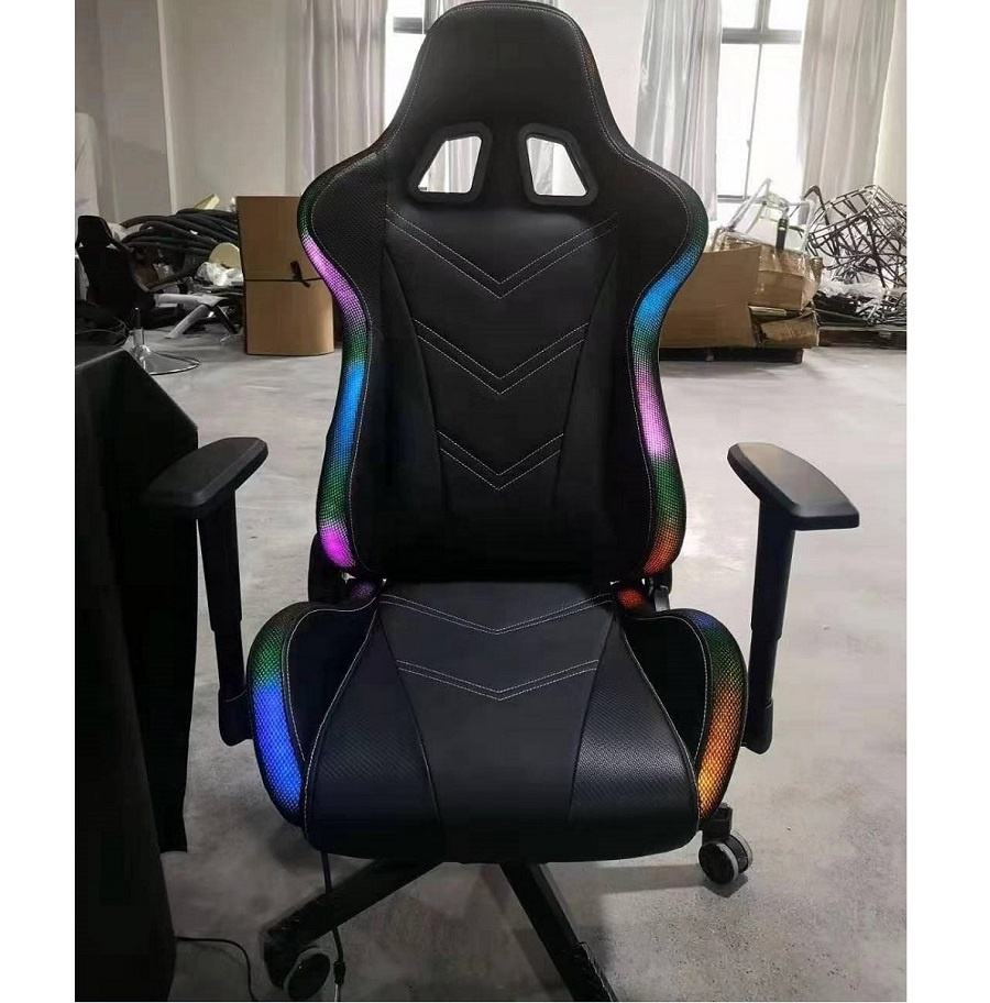 New arrival hot shinning rocker RGB LED racing chair computer fashional user race chair gaming chair with LED light for gamer