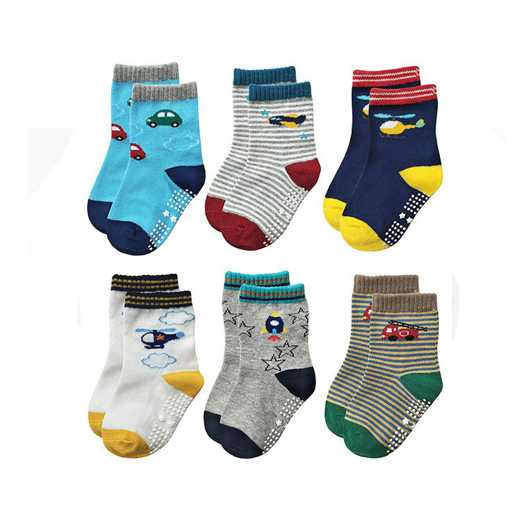 Eco-friendly Customized Breathable Brand Combed Cotton kid Socks
