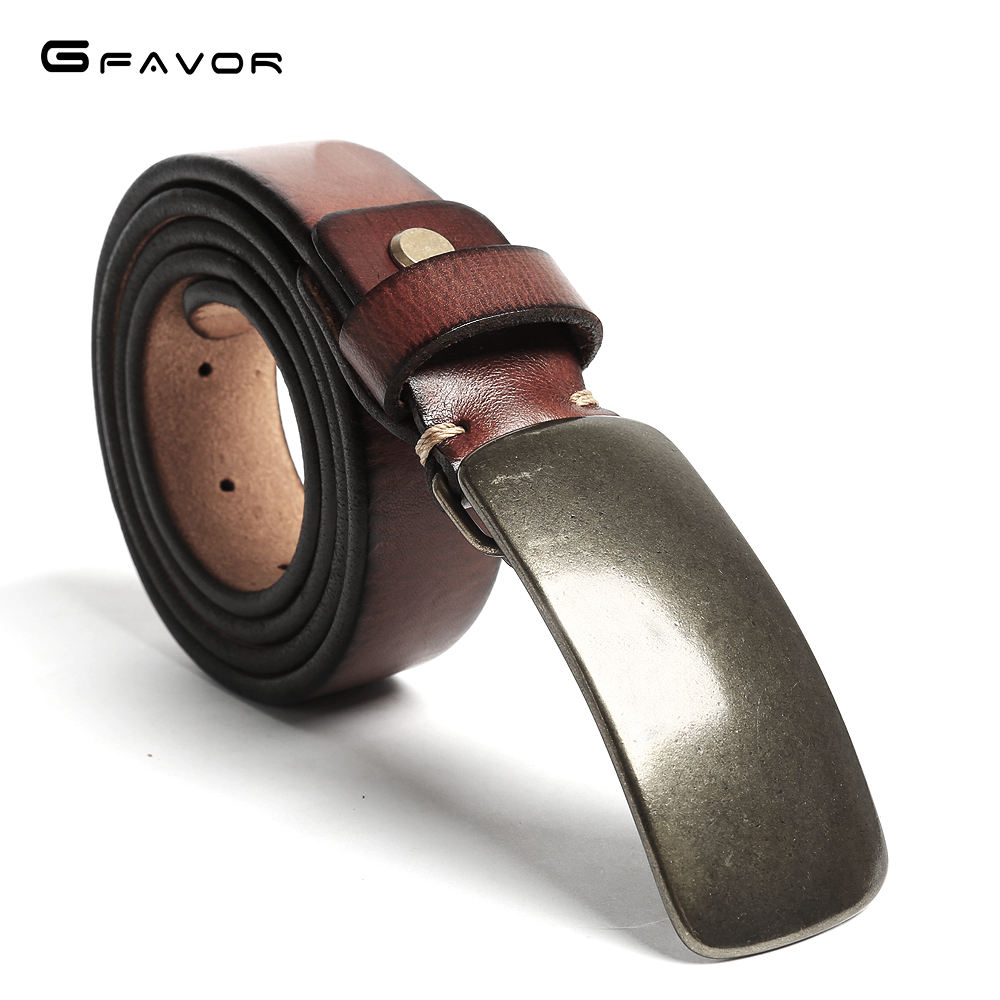Famous Brand Copper Designer Belt Men Men's Casual Genuine Leather Belt High Quality Cowhide Retro Pin Buckle Belt for Jeans