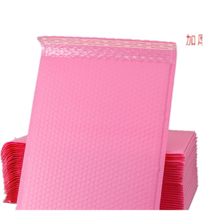 Pink Co-Extrusion Film Bubble Express Envelope Bag Clothing Packaging Color Bubble Bag Foam Express poly mailer