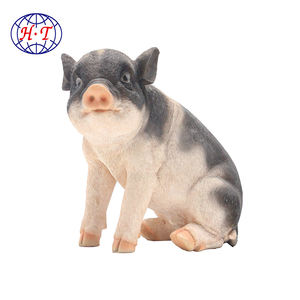 Wholesale garden animal statue  realistic customized resin pig sculpture/