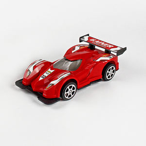 Promotional cheap plastic toy pull line race car for children