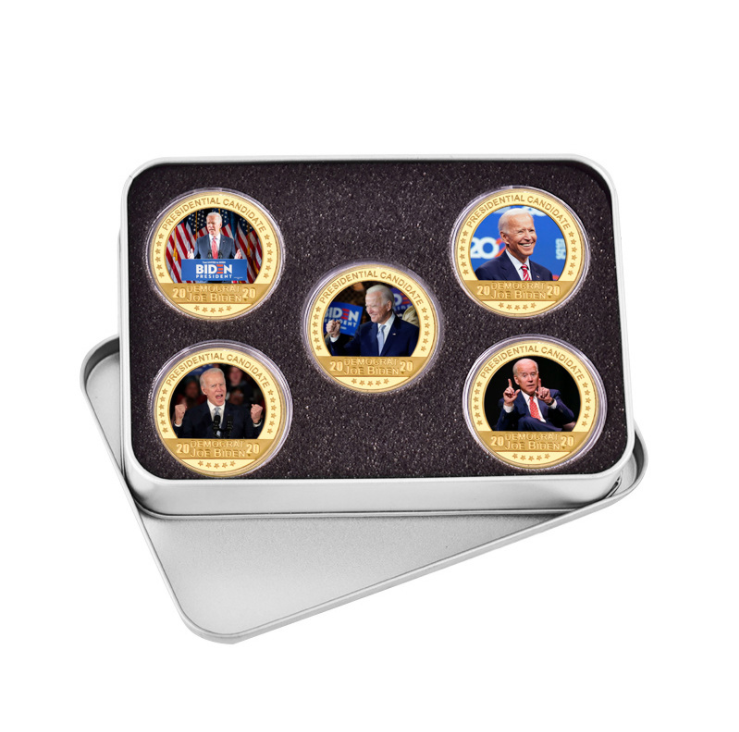 UFOGIFT Biden Gold Coin Collection Patriots Gifts Gold Plated For President Election The United States Biden Collectible Coins