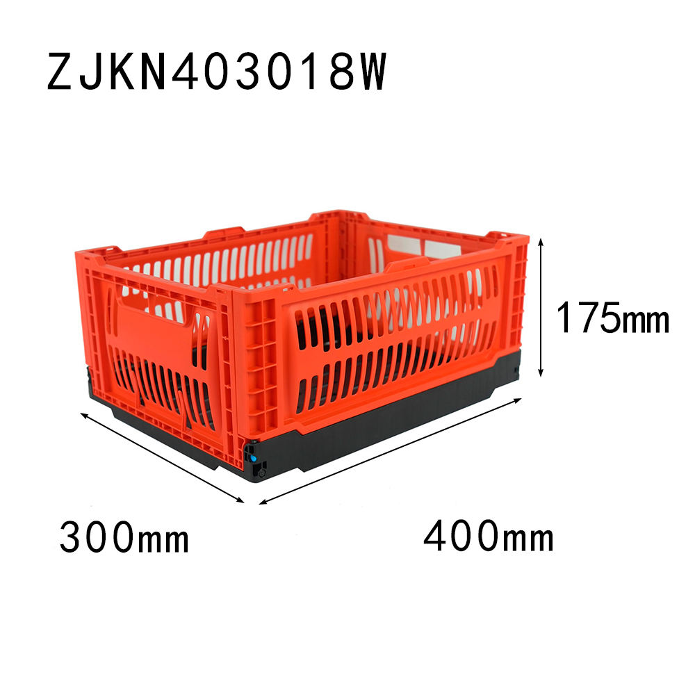 400*300*180mm plastic collapsible crate for fruit organization household flexible and compact