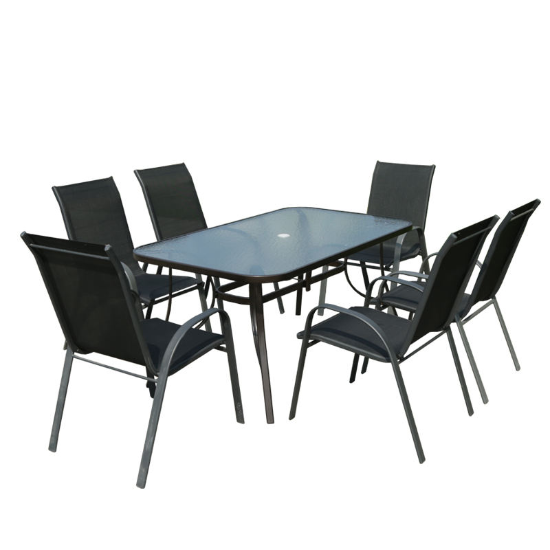 Outdoor Garden Furniture Sets Dining Chair Rectangular Table 6Seater Garden Furniture Patio Outdoor Furniture 7Pcs Garden Set