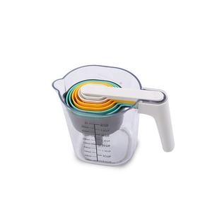 Made in China new arrival 9pcs household plastic 1000 ml nesting bowl measuring cups set