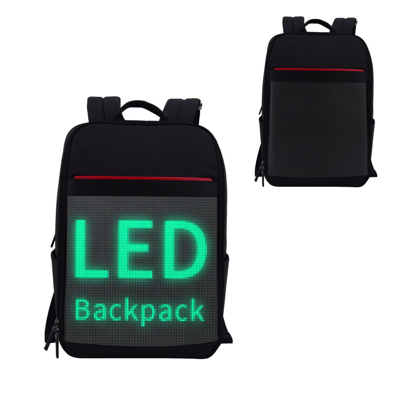 Hole Sale Laptop Backpack with LED Screen Travel LED Shinning Computer Backpack