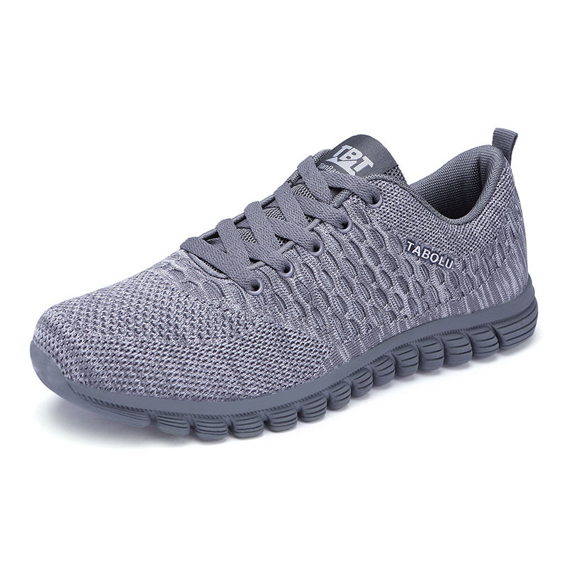 High Quality Walking Women Mother Breathable Knit Casual Men Massage Shoes