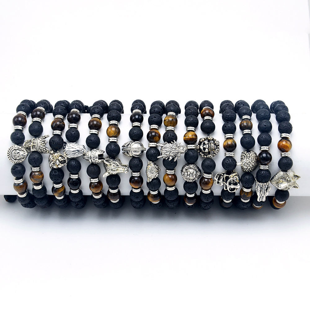 Fashion Jewelry Natural Stone Beads Essential Oil Perfume Diffuser Beads Bracelet