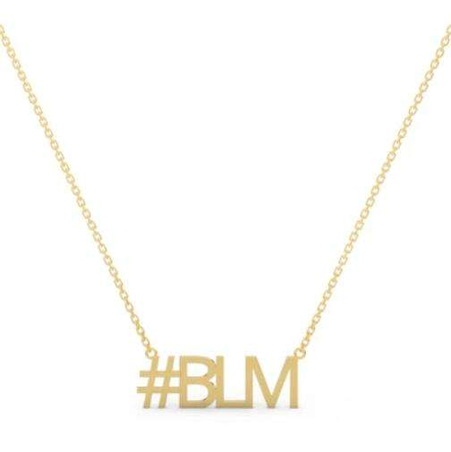 Inspire stainless steel jewelry Black Lives Matter Abbr BLM Choker Necklace customized any font