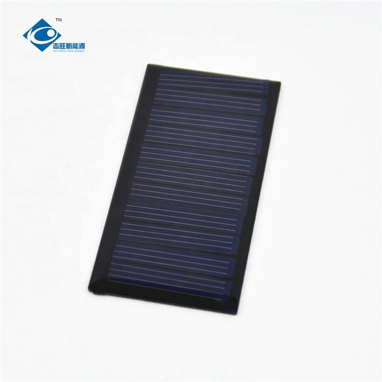 high efficiency poly crystalline solar panel ZW-7438 Lightweight Silicon Solar 0.34W 5.5V for portable home solar panal systems