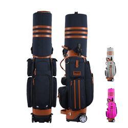 2019 Custom High Quality Nylon Trolley Cart Golf Club Stand Travel Bag with Wheels