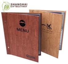 Hotel and Restaurant bar menu covers A4 screw menus with strong wood pu leather cover