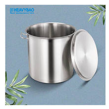 Heavybao Commercial Cooking Pots Stainless Steel Cookware Soup Bucket For Kitchen