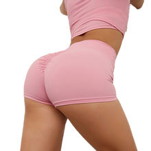 2020 Workout Yoga Fitness Scrunch Butt Compression High Waisted Seamless Gym Shorts Women
