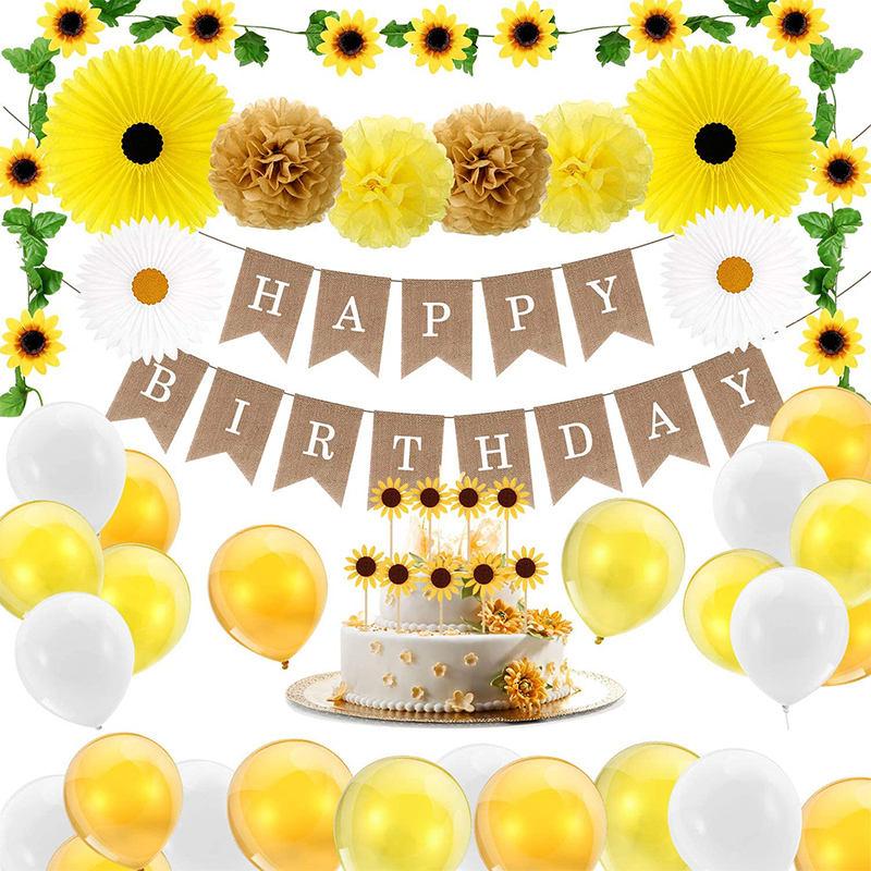 Girasol Cumplea/ños Decoraci/ón WENTS 11PCS Girasol Party Supplies Cupcake Toppers Cumplea/ños Pancartas para Ni/ños Ducha de Beb/é Fiesta de Cumplea/ñosGirasol Cumplea/ños Decoraci/ón 11PCS Girasol Party