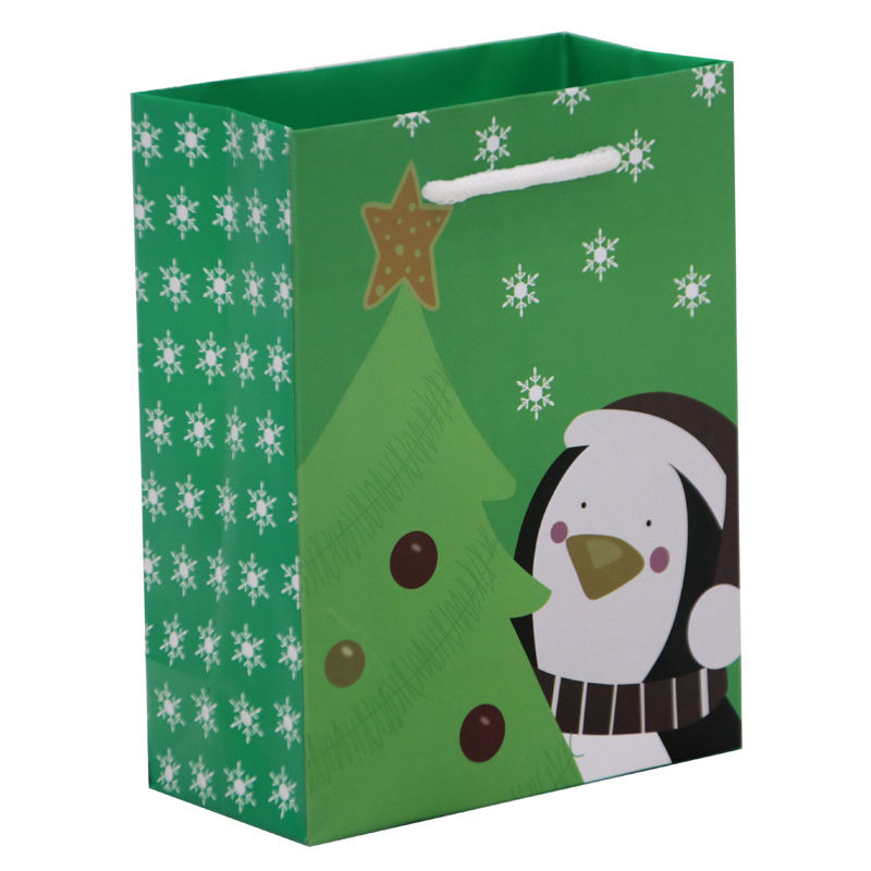 Top Quality Paper Bag with Handles for Christmas Package Gift Bags