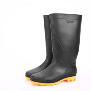 men rain boots black matt waterproof gumboots knee high rain shoes mining industry farming safety work shoes boots made in china