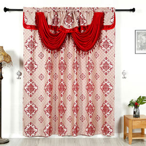 Polyester custom ready made cortinas finished living room curtain drapes bedroom window panel
