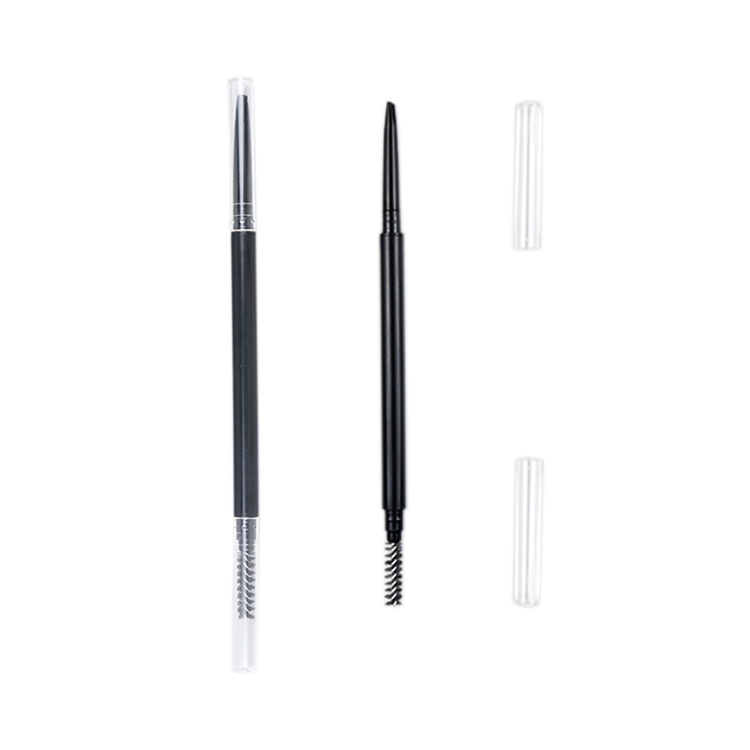 Cosmetic Eyebrow Pencil Oem Super Fine Custom Logo Best Cosmetic Automatic Slim Empty Double Eyebrow Pencil Tube