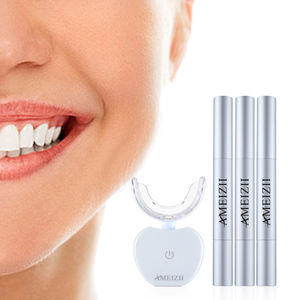 Custom Logo Wireless Bright White Smile Teeth Whitening Pen Kit Tooth Bleaching Removable Dental Tray Machine Blanqueador Dental