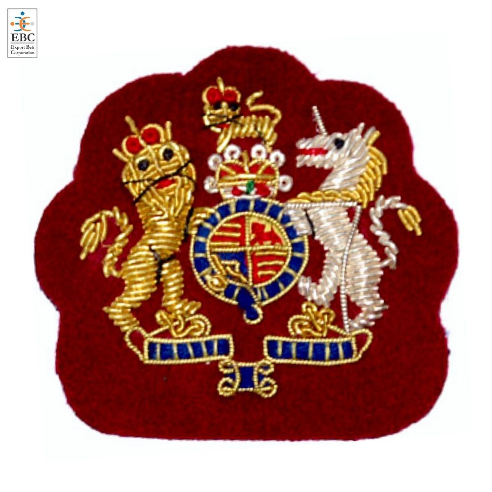 Personalizzato Su Misura Monogram Royal British Militare Crest distintivo di patch