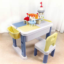 Game Table Playing Table And Chair Set Kids Drawing Table Kit Educational Activities Multi-function Plastic Learning Desk