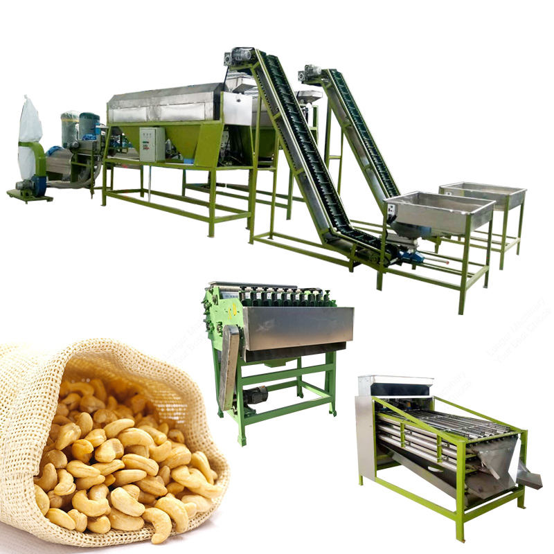 12T Per Day Shellers Production Lines Cheap Cashew Nut Processing Machine For Cashew Nut