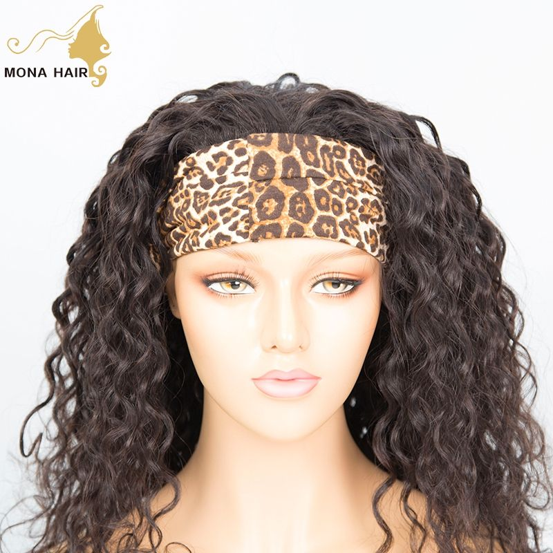 Headband Wig Cheap Wig Human Kinky Curly Hair Wigs Dealer