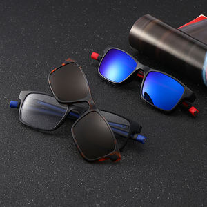 Night Driving Magnetic Clip Sunglasses Men Polarized Clip on Glasses Blue Light Blocking lentes de sol