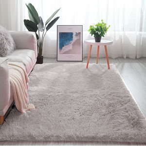 Soft Silky Shaggy Anti-slip cheap area rug Carpet tapete for home