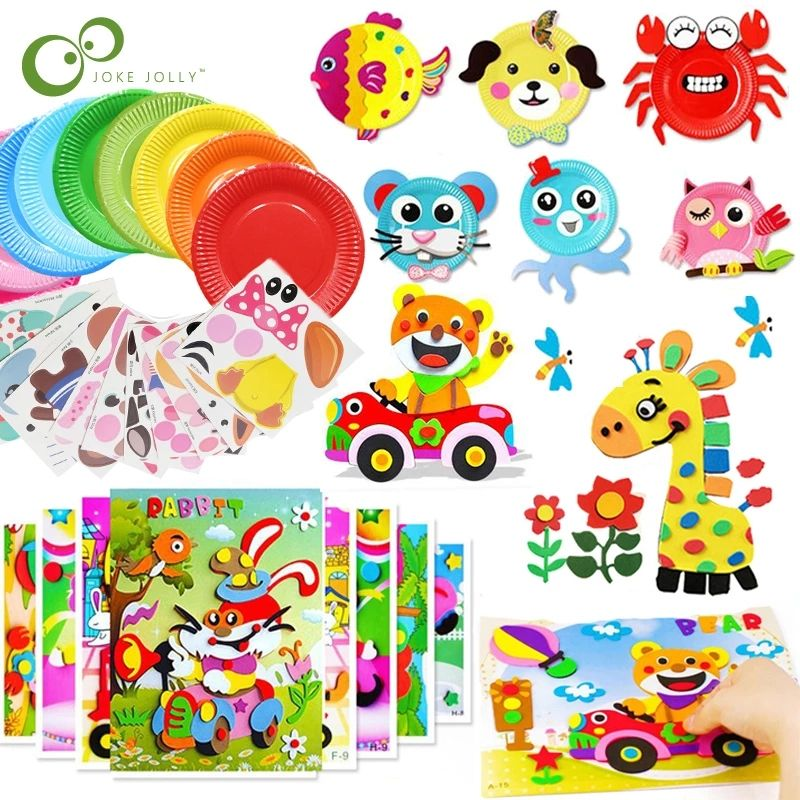 3D EVA Foam Sticker DIY Cartoon Animal Puzzle For Children Kids