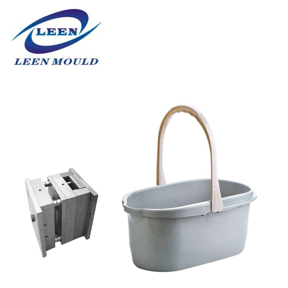High Quality Injection Mould Rectangle Bucket With Handle Plastic Mop Bucket Mold