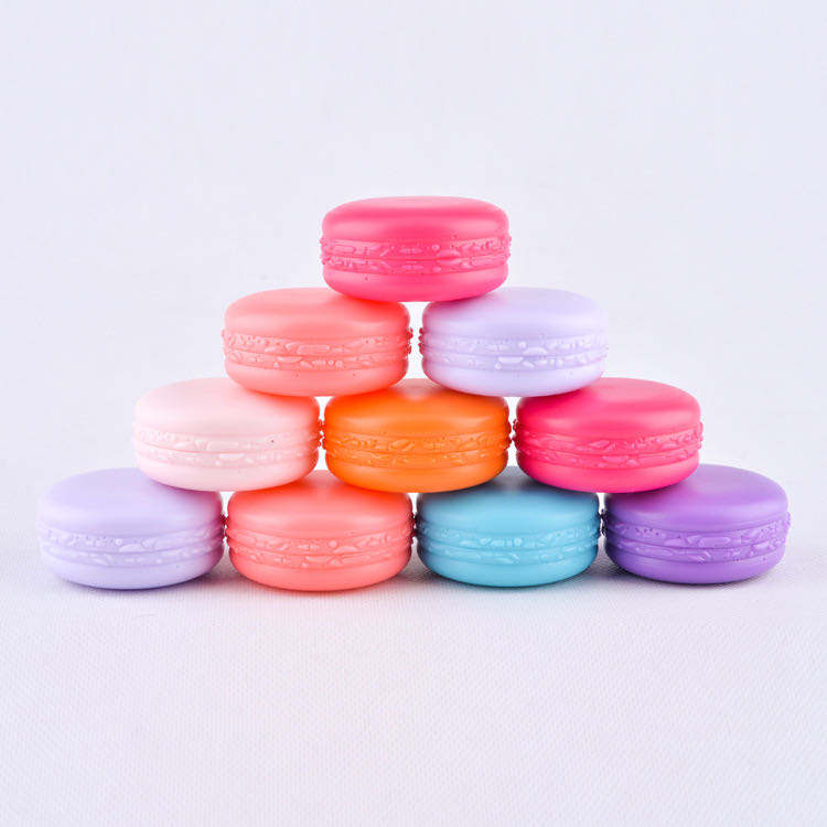 10ml Cosmetic Luxury Cream Container Empty Macaron Shape Plastic Jar Cream Jar Powder Blush Bottle Lip balm container