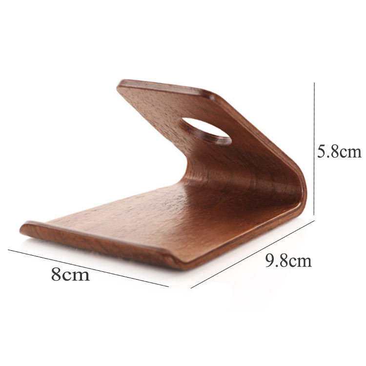 Solid Custom Wooden Support Mobile Cell Phone Woods Phoned Holder
