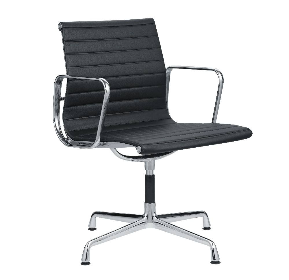 Aluminium four legs EA 108 swivel conference chair without wheels