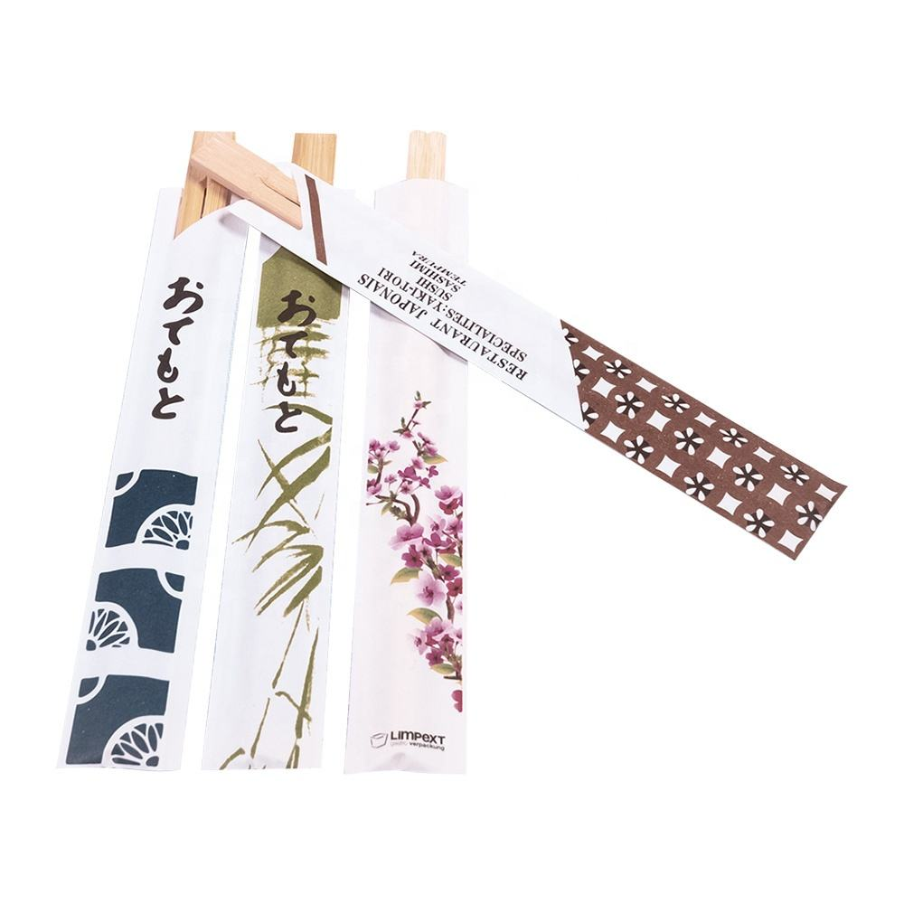 China Cheap One-Off Disposable Japanese Chopsticks With Custom Design Sleeves