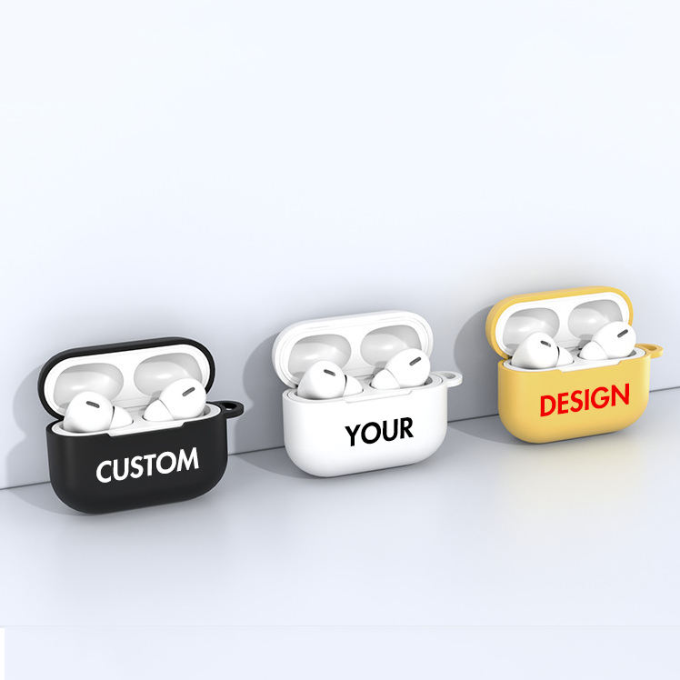 Soft TPU Cover Custom LOGO for Airpods Case Silicone Custom Design Print for Airpods Pro Case Custom
