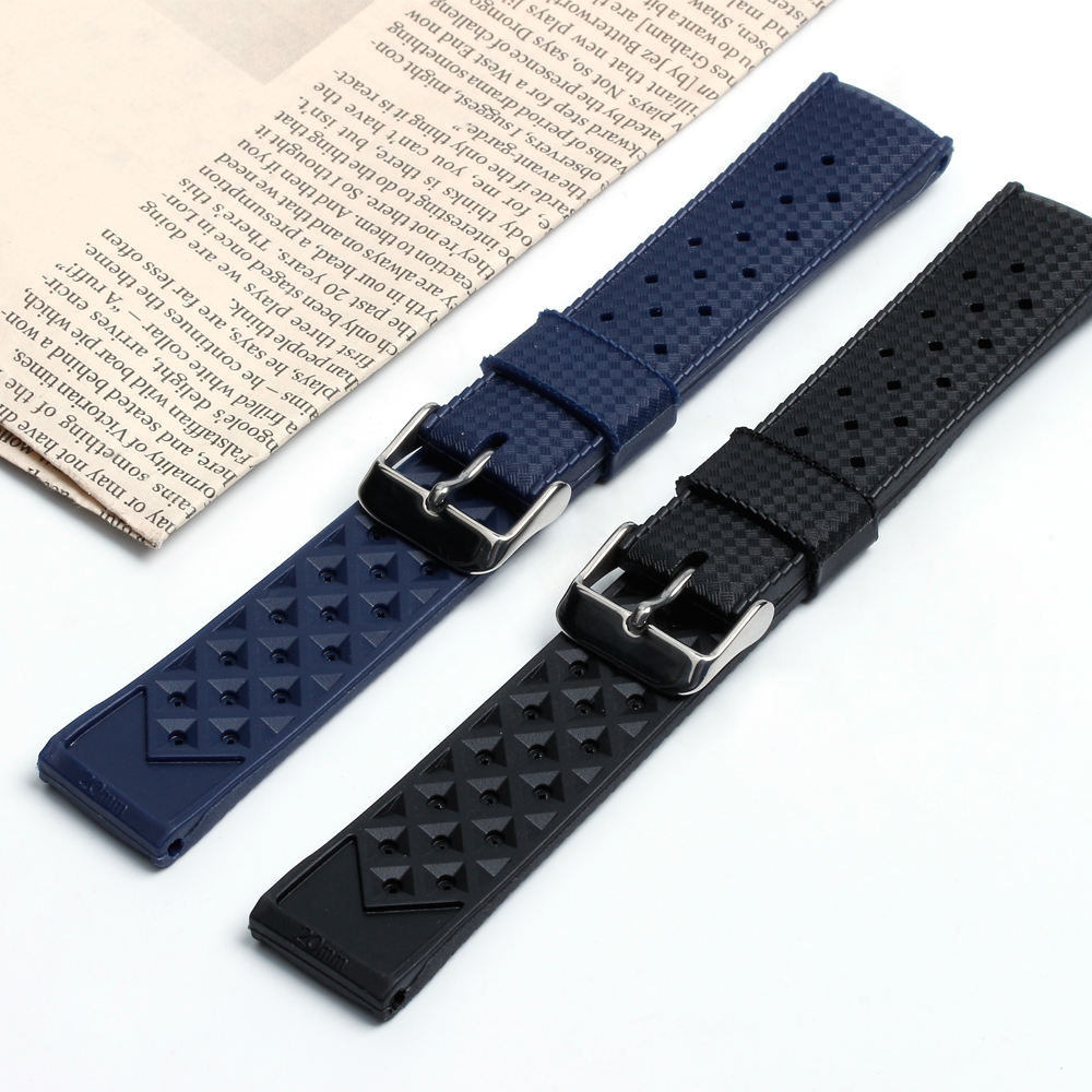 ZOVNE High Quality Tropical Watch Straps 20&22mm Rubber Watch Bands Silicone Straps
