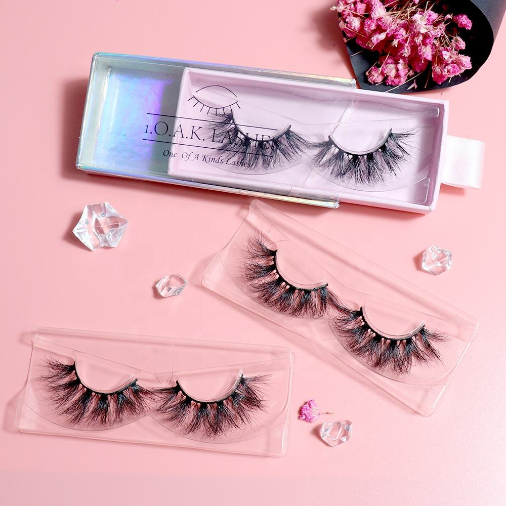 handmade full strips eyelashes false 3d silk lashes clear band mink eyelash